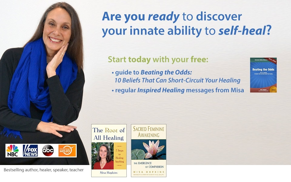 Misa Hopkins empowers people to take control of their health through self-healing techniques.
