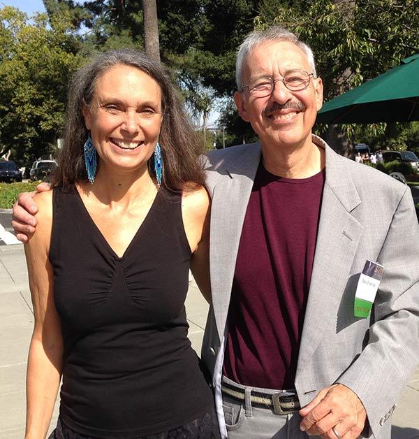 With Steve Bhaerman (aka Swami Beyondananda)
